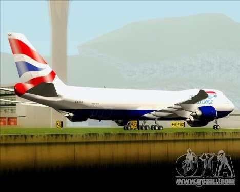 Boeing 747-8 Cargo British Airways World Cargo for GTA San Andreas engine