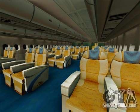 Airbus A380-861 Qatar Airways for GTA San Andreas wheels