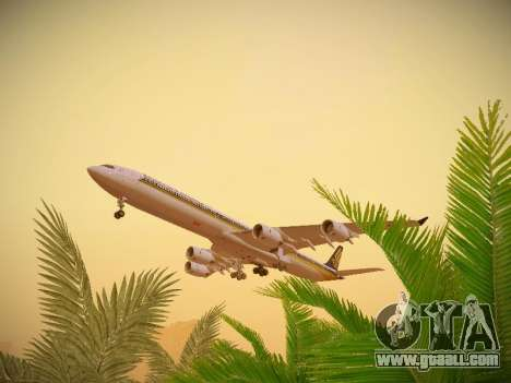 Airbus A340-600 Singapore Airlines for GTA San Andreas side view