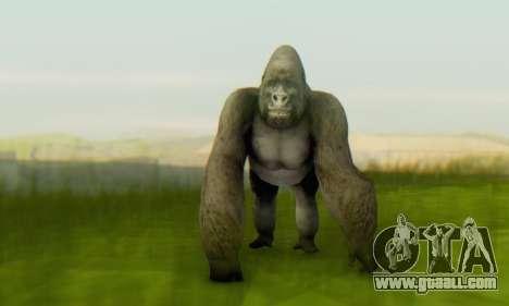 Gorilla (Mammal) for GTA San Andreas second screenshot