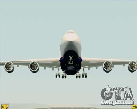 Boeing 747-8 Cargo Nippon Cargo Airlines for GTA San Andreas upper view