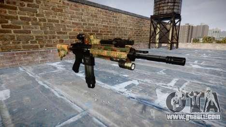 Automatic rifle Colt M4A1 jungle for GTA 4