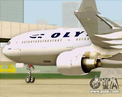 Airbus A330-300 Olympic Airlines for GTA San Andreas inner view