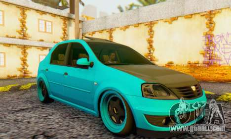 Dacia Logan Pearl Blue for GTA San Andreas