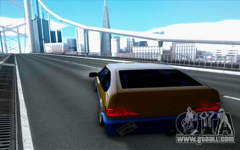 Blista By Next for GTA San Andreas back left view