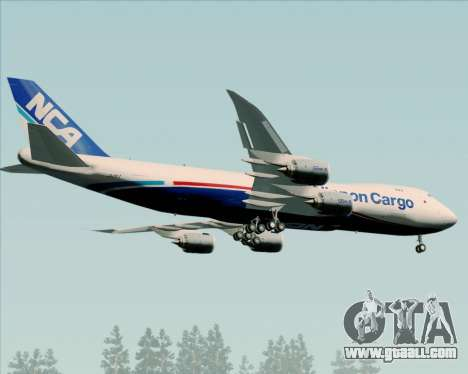 Boeing 747-8 Cargo Nippon Cargo Airlines for GTA San Andreas right view