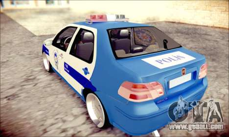 Fiat Albea Police Turkish for GTA San Andreas left view