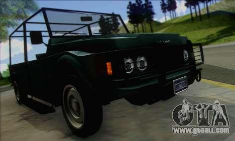 GTA V Canis Kalahari (IVF) for GTA San Andreas right view