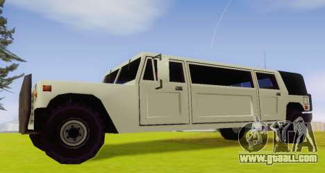 Patriot Limousine for GTA San Andreas left view