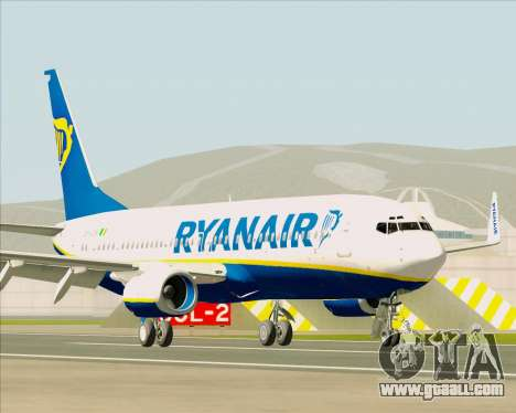 Boeing 737-8AS Ryanair for GTA San Andreas left view