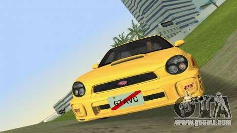 Subaru Impreza WRX 2002 Type 1 for GTA Vice City
