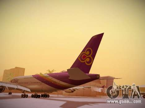 Airbus A380-800 Thai Airways International for GTA San Andreas back left view