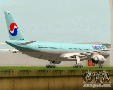 Airbus A330-300 Korean Air for GTA San Andreas right view