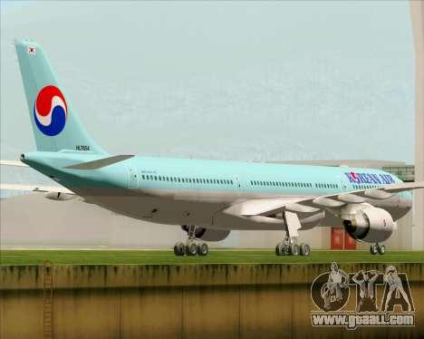 Airbus A330-300 Korean Air for GTA San Andreas right view
