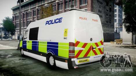 Mercedes-Benz Sprinter Police 2014 for GTA 4 left view