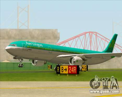Airbus A330-300 Aer Lingus for GTA San Andreas upper view