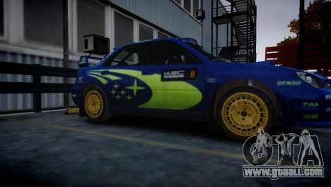Subaru Impreza STI Group N Rally Edition for GTA 4 back left view