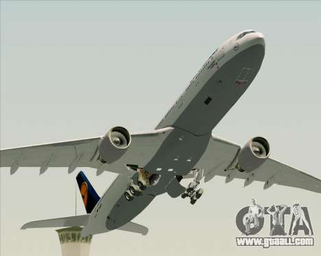 Airbus A330-300 Lufthansa for GTA San Andreas bottom view