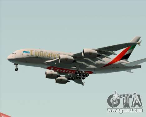 Airbus A380-841 Emirates for GTA San Andreas upper view