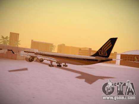 Airbus A340-600 Singapore Airlines for GTA San Andreas bottom view