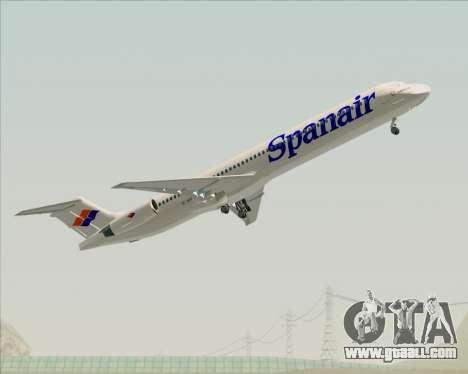 McDonnell Douglas MD-82 Spanair for GTA San Andreas interior