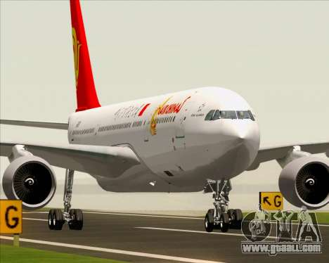 Airbus A330-200 Air China for GTA San Andreas back view