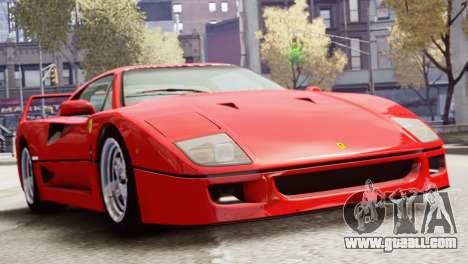 Ferrari F40 1987 for GTA 4 back left view