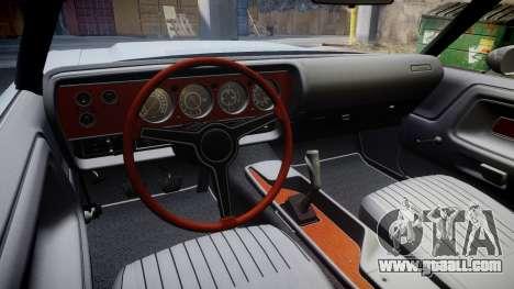 Dodge Challenger 1971 v2.2 PJ10 for GTA 4 back view