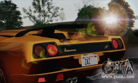 Lamborghini Diablo SV 1995 (HQLM) for GTA San Andreas back view