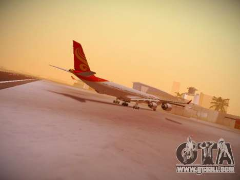 Airbus A340-600 Hainan Airlines for GTA San Andreas back view