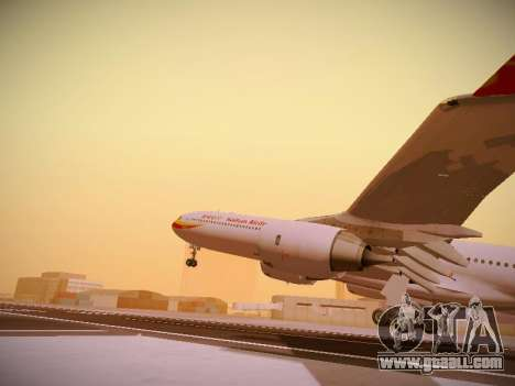 Airbus A340-600 Hainan Airlines for GTA San Andreas bottom view