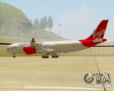 Airbus A340-313 Virgin Atlantic Airways for GTA San Andreas bottom view
