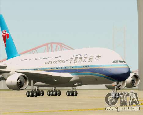 Airbus A380-841 China Southern Airlines for GTA San Andreas left view