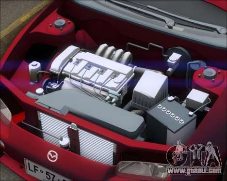 Mazda 323F 1995 for GTA San Andreas back view