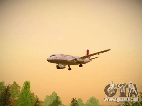Airbus A319-132 Germanwings for GTA San Andreas interior
