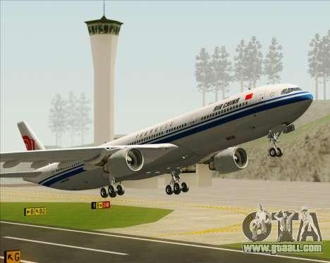 Airbus A330-300 Air China for GTA San Andreas wheels
