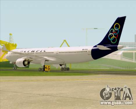 Airbus A330-300 Olympic Airlines for GTA San Andreas right view