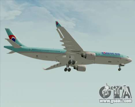 Airbus A330-300 Korean Air for GTA San Andreas bottom view