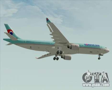 Airbus A330-300 Korean Air for GTA San Andreas bottom view