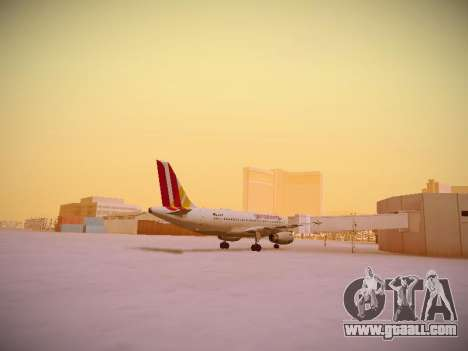 Airbus A319-132 Germanwings for GTA San Andreas right view