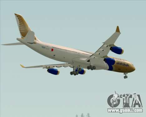 Airbus A340-313 Gulf Air for GTA San Andreas upper view