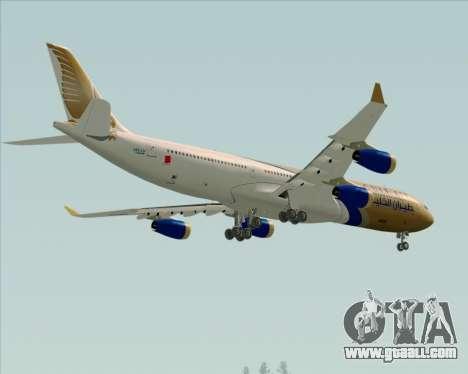 Airbus A340-313 Gulf Air for GTA San Andreas upper view