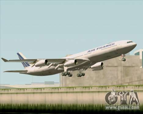 Airbus A340-313 Air France (Old Livery) for GTA San Andreas inner view