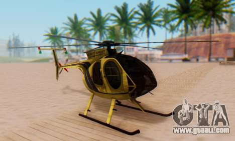 The MD500E helicopter v2 for GTA San Andreas