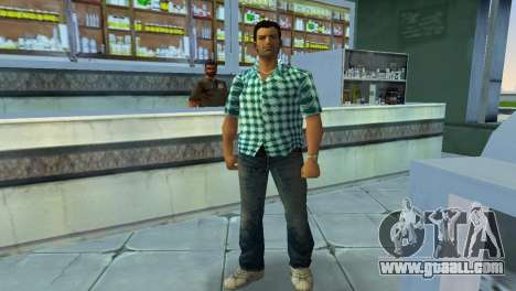 Kockas polo - vilagoskek T-Shirt for GTA Vice City second screenshot