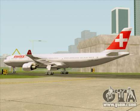 Airbus A330-300 Swiss International Air Lines for GTA San Andreas right view