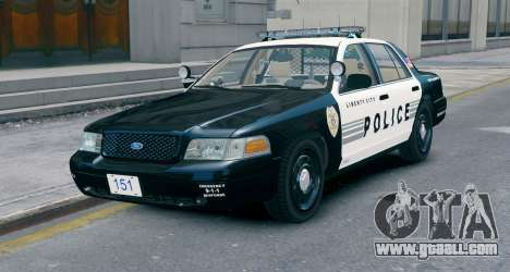 Ford Crown Victoria LCPD [ELS] No Pushbar for GTA 4