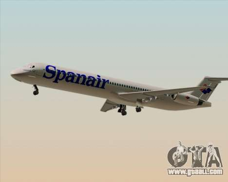 McDonnell Douglas MD-82 Spanair for GTA San Andreas right view