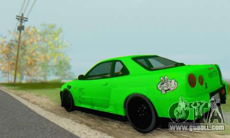 Nissan Skyline GT-R 34 for GTA San Andreas right view