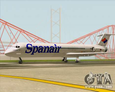 McDonnell Douglas MD-82 Spanair for GTA San Andreas left view
